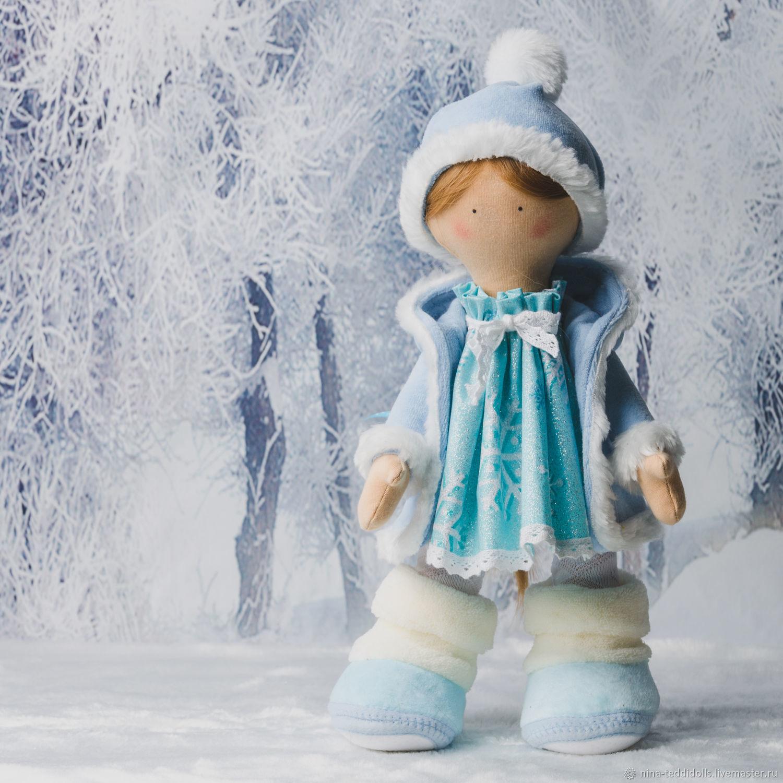 Кукла текстильная интерьерная Снегурочка, Тыквоголовка, Новосибирск,  Фото №1