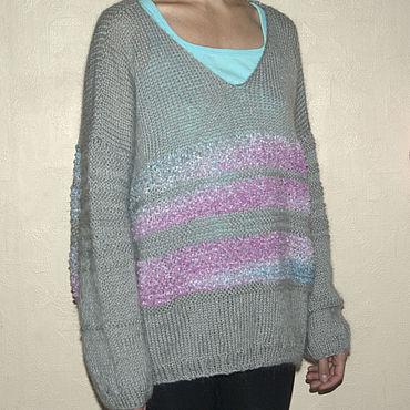 Clothing handmade. Livemaster - original item Gray pullover oversized. Handmade.