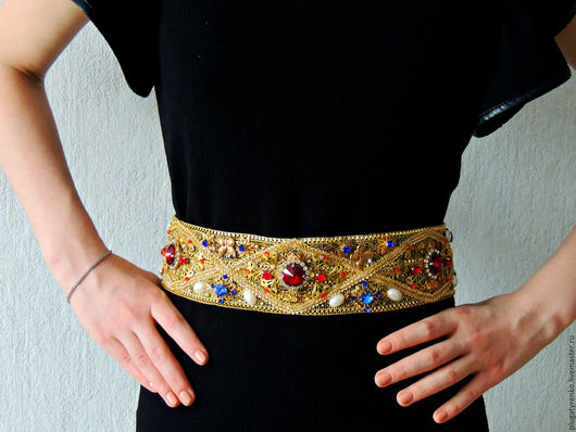 Пояса, ремни ручной работы. Ярмарка Мастеров - ручная работа. Купить Пояс в стиле Дольче Габбана Золотая Византия. Handmade.