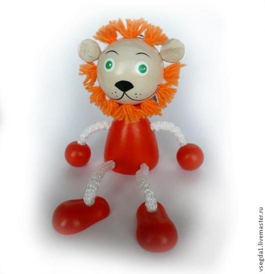 """Игрушки животные, ручной работы. Ярмарка Мастеров - ручная работа. Купить Игрушка """"Львёнок"""" на пружинке. Handmade. Игрушка для детей, игрушка"""