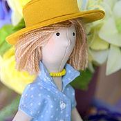 Куклы и игрушки ручной работы. Ярмарка Мастеров - ручная работа Нью лук или девочка в голубом. Handmade.