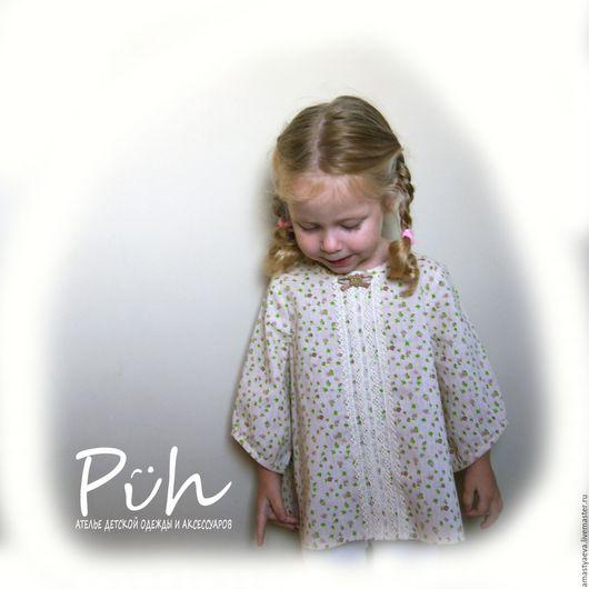 Одежда для девочек, ручной работы. Ярмарка Мастеров - ручная работа. Купить Блузка для девочки. Handmade. Бежевый, блуза нарядная