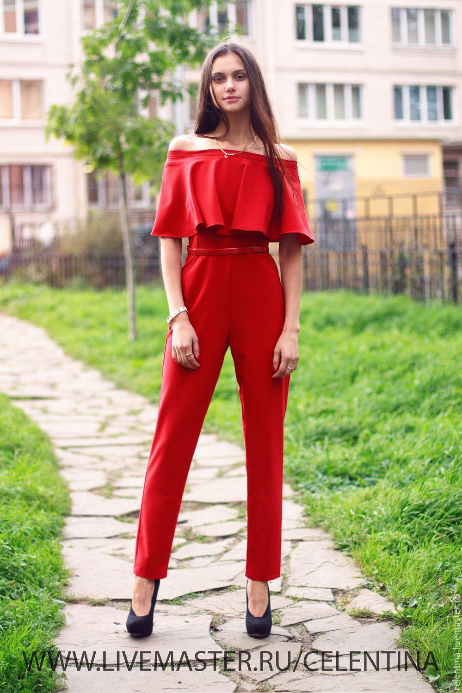Купить красный костюм женский