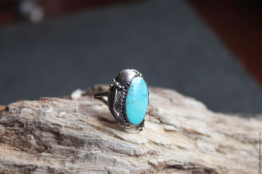 """Кольца ручной работы. Ярмарка Мастеров - ручная работа. Купить Серебряное кольцо с Бирюзой """"Природа"""". Handmade. Бирюзовый, кольцо с камнем"""