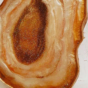 Для дома и интерьера ручной работы. Ярмарка Мастеров - ручная работа Агат Ботсвана золотой. Handmade.