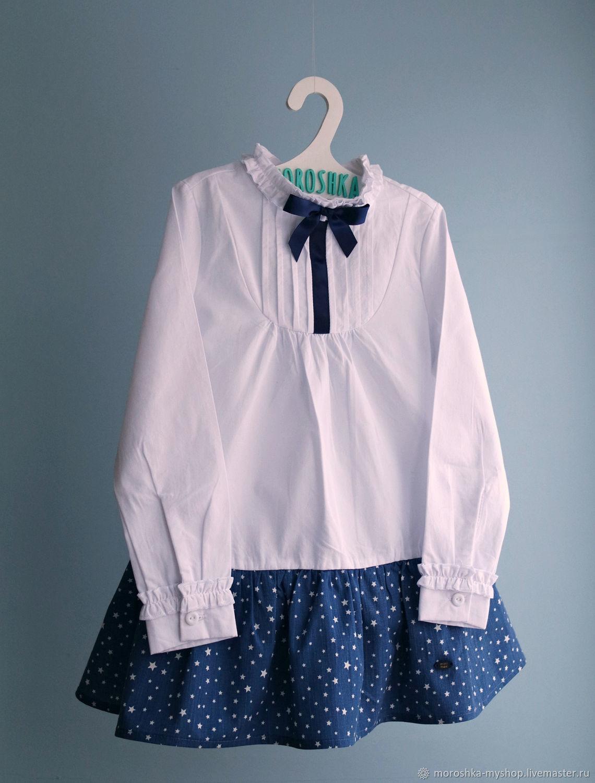 Платье для девочки Блуза-звезды