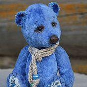 Куклы и игрушки ручной работы. Ярмарка Мастеров - ручная работа Голубой Лен или Ленок мишка тедди. Handmade.