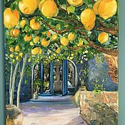 Картины ручной работы. Ярмарка Мастеров - ручная работа Лимоны. Работа представлена для примера.. Handmade.