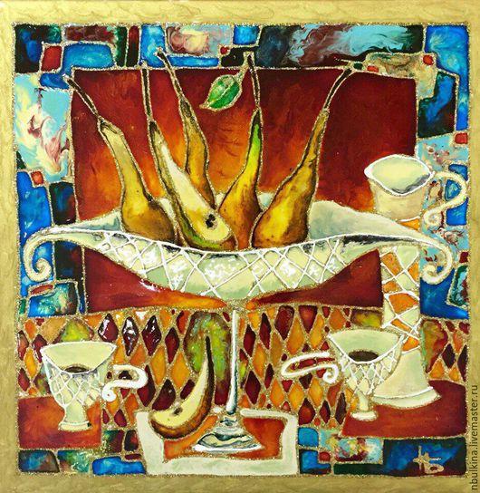 """Элементы интерьера ручной работы. Ярмарка Мастеров - ручная работа. Купить """"Вкусные груши"""". Handmade. Комбинированный, эксклюзивная работа, груши"""