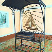 Для дома и интерьера ручной работы. Ярмарка Мастеров - ручная работа Мангал с крышей кованый парусник корабль тематический. Handmade.
