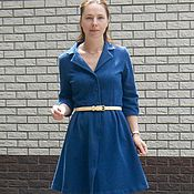 Одежда handmade. Livemaster - original item T-shirt dress with embroidery / cutwork dress. Handmade.