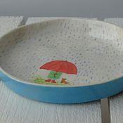 """Посуда ручной работы. Ярмарка Мастеров - ручная работа Тарелка """"Дождь"""". Керамика. Handmade."""