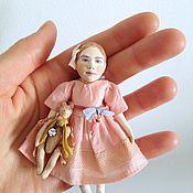 Куклы и игрушки ручной работы. Ярмарка Мастеров - ручная работа Миниатюрная авторская кукла для кукольного домика. Handmade.