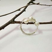 Украшения handmade. Livemaster - original item Ring with pearls. Handmade.