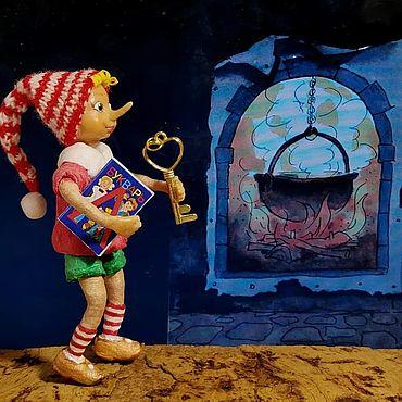 Куклы и игрушки ручной работы. Ярмарка Мастеров - ручная работа Игрушки: Буратино. Handmade.