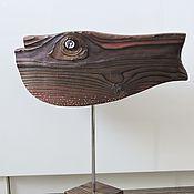 Для дома и интерьера ручной работы. Ярмарка Мастеров - ручная работа Солидная - деревянная интерьерная рыба. Handmade.