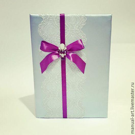 Свадебные аксессуары ручной работы. Ярмарка Мастеров - ручная работа. Купить Папка для свидетельства в лиловом и мятном цвете. Handmade. Мятный