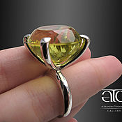 Украшения handmade. Livemaster - original item Ring with citrine. 925 sterling silver PR. Handmade.