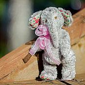 Мягкие игрушки ручной работы. Ярмарка Мастеров - ручная работа Тедди Слониха Кнопка. Handmade.
