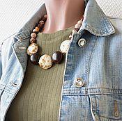 Украшения handmade. Livemaster - original item Short Colorful beads made of Jasper and ceramic. Handmade.