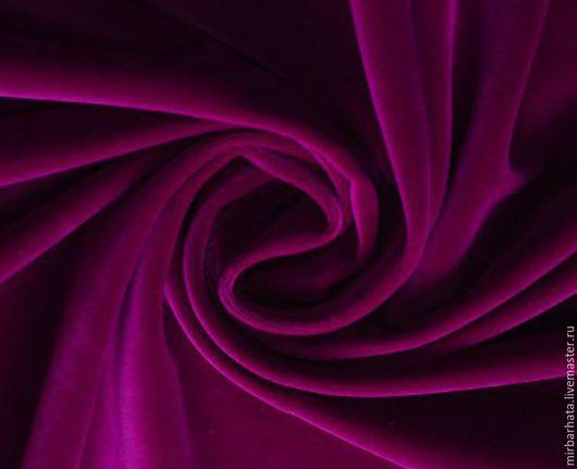 Бархат хлопковый. Производство  Италия. Ширина ткани- 150 см. Состав ткани - 100%СО. Стоимость ткани 23 $ за погонный метр.