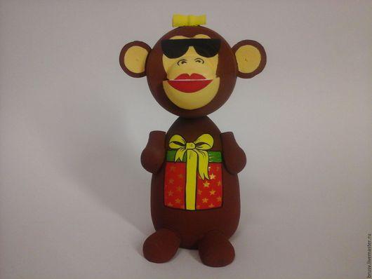 Копилки ручной работы. Ярмарка Мастеров - ручная работа. Купить копилка обезьяна. Handmade. Коричневый, копилка, обезьянка, подарок