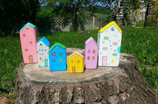 Детская ручной работы. Ярмарка Мастеров - ручная работа. Купить Деревянные домики. Handmade. Комбинированный, интерьерный домик, ручная роспись