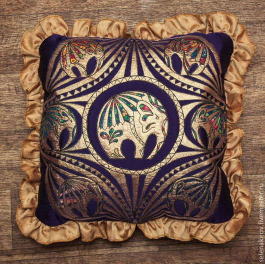 Текстиль, ковры ручной работы. Ярмарка Мастеров - ручная работа. Купить Семь слонов на фиолетовом. Handmade. Разноцветный