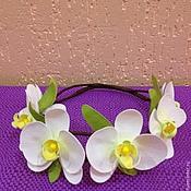 Цветы и флористика ручной работы. Ярмарка Мастеров - ручная работа Венок с орхидеями. Handmade.