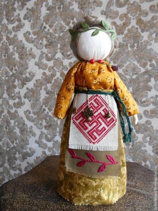 """Народные куклы ручной работы. Ярмарка Мастеров - ручная работа. Купить """"Своба""""-славянская богиня лесов.. Handmade. Зеленый"""