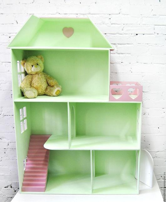 Кукольный дом ручной работы. Ярмарка Мастеров - ручная работа. Купить Кукольный дом. Handmade. Бледно-розовый, для кукол и игрушек