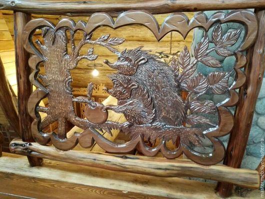 Мебель ручной работы. Ярмарка Мастеров - ручная работа. Купить Ограждение резное. Handmade. Ограждение, животные из дерева, для бани и сауны