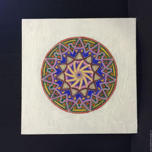 Абстракция ручной работы. Ярмарка Мастеров - ручная работа. Купить Мандала. Handmade. Комбинированный, мандала, картина, акриловые краски, медитация