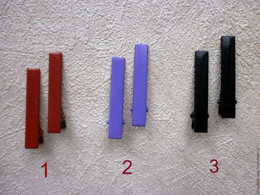 Для украшений ручной работы. Ярмарка Мастеров - ручная работа. Купить Зажим, 5 см, металл, набор 10 шт, основа, заготовка, цветные. Handmade.