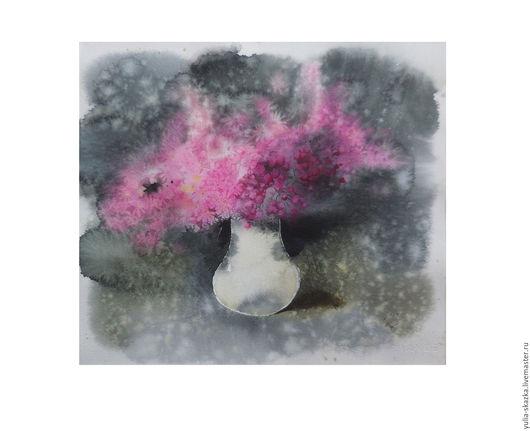 """Картины цветов ручной работы. Ярмарка Мастеров - ручная работа. Купить Акварель """" Трепет """". Handmade. Розовый"""