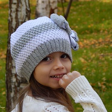 Clothing handmade. Livemaster - original item Knitted hat with bow.. Handmade.
