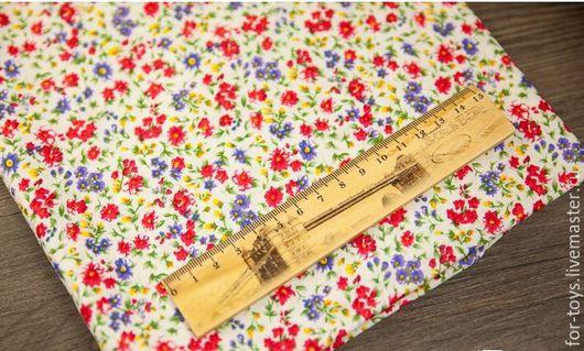 Американский хлопок. Принт Полевые цветы.  Производитель -  David Textiles