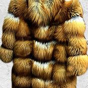 Одежда ручной работы. Ярмарка Мастеров - ручная работа Шуба из рыжей лисы. Поперечный крой.. Handmade.