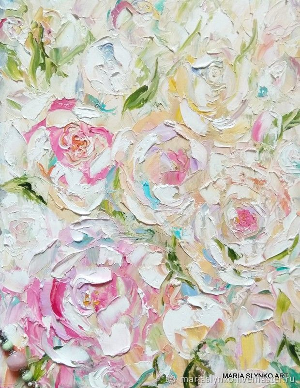 The picture of peonies Painting with peonies oil on canvas. delicate flowers, Pictures, Alicante,  Фото №1