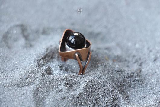 Кольца ручной работы. Ярмарка Мастеров - ручная работа. Купить Необычное кольцо из ювелирного сплава под бронзу. Handmade. Серебряный