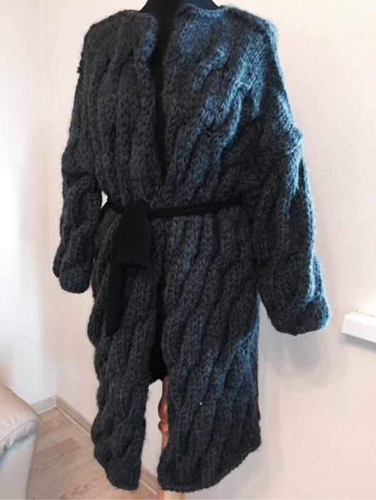 Верхняя одежда ручной работы. Ярмарка Мастеров - ручная работа. Купить Кардиган-пальто косами. Дизайнерская работа.. Handmade.