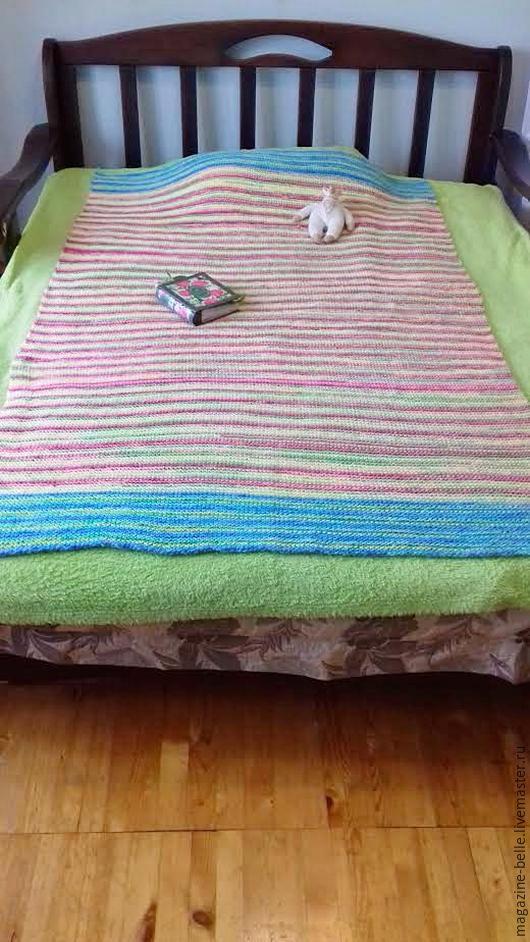 """Текстиль, ковры ручной работы. Ярмарка Мастеров - ручная работа. Купить Плед """"Тепло лета"""". Handmade. Комбинированный, одеяло в подарок"""
