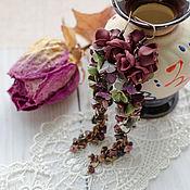 Украшения ручной работы. Ярмарка Мастеров - ручная работа Серьги Чайная роза. Handmade.