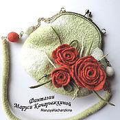 Сумки и аксессуары ручной работы. Ярмарка Мастеров - ручная работа Cумочка с розами. Handmade.