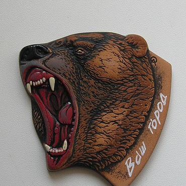 """Сувениры и подарки ручной работы. Ярмарка Мастеров - ручная работа Магнит """"Медведь ревущий"""". Handmade."""