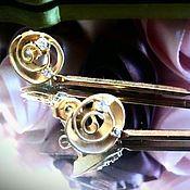 """Украшения ручной работы. Ярмарка Мастеров - ручная работа Серьги """"Круговорот"""" с натуральным жемчугом. Handmade."""