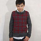 """Одежда ручной работы. Ярмарка Мастеров - ручная работа Пуловер вязаный """"Эдинбург"""". Handmade."""