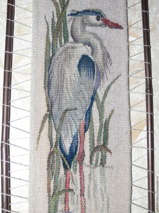 """Текстиль, ковры ручной работы. Ярмарка Мастеров - ручная работа. Купить Гобелен ручной работы """"Цапля"""".. Handmade. цапля"""