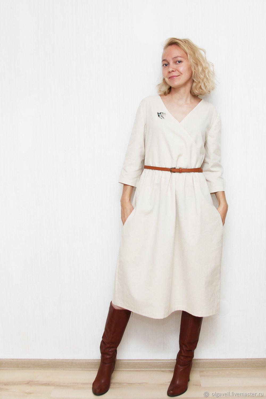 """Платья ручной работы. Ярмарка Мастеров - ручная работа. Купить Платье льняное """"Berlin"""". Handmade. Бежевый, женственное, хлопок"""