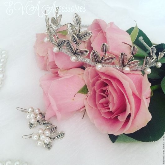 Диадема и серьги `Flora`